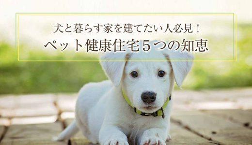 犬と暮らす家を建てたい人必見!ペット健康住宅の知恵5選