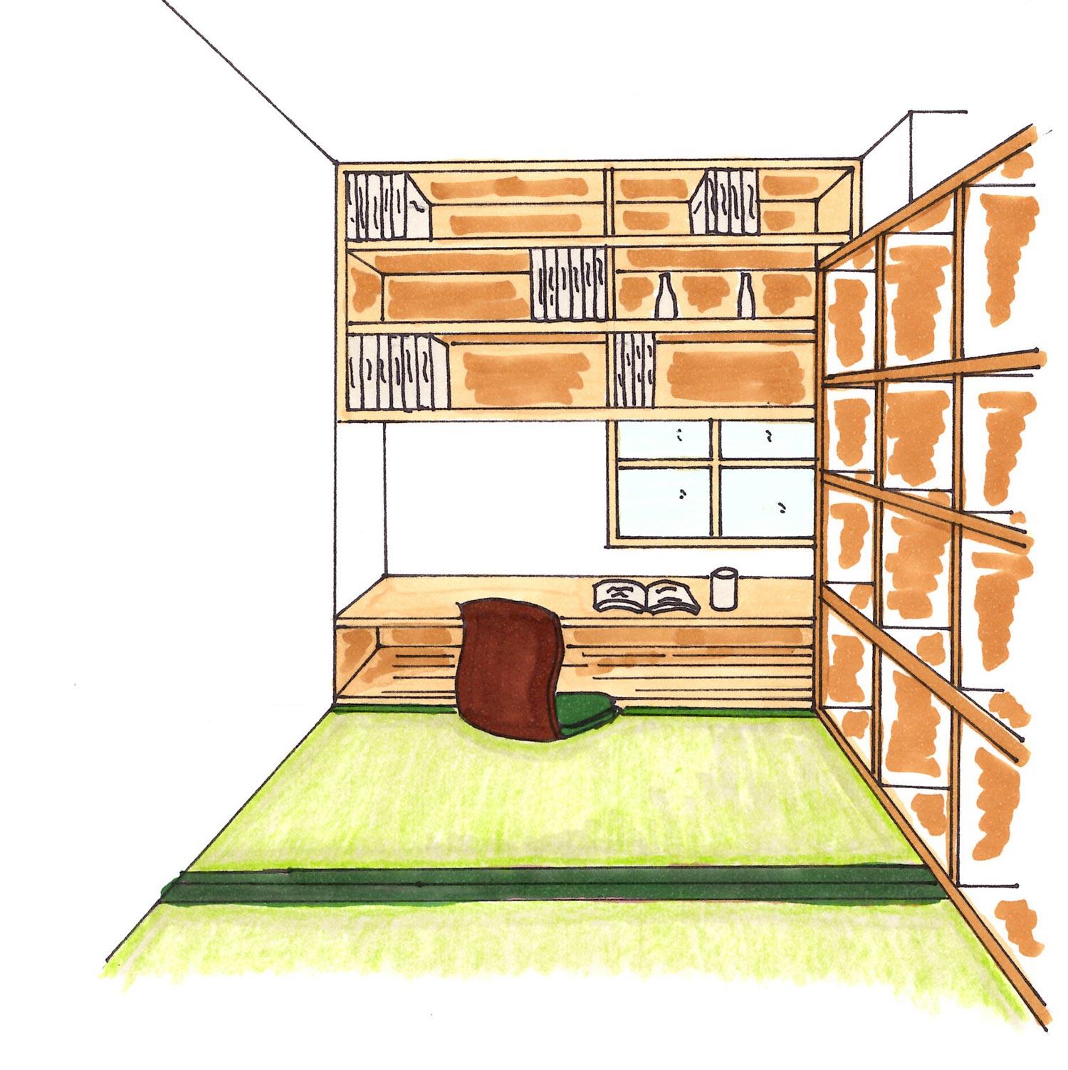 書斎を和室にする