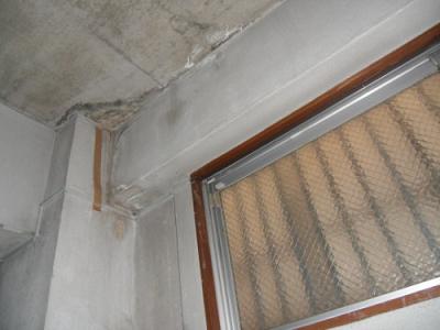 ルーフバルコニ 階下の天井への水漏れや雨漏り
