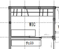 二人用WIC例(1.5坪タイプ)