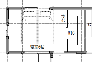6畳の寝室レイアウト
