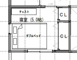 5畳の寝室レイアウト