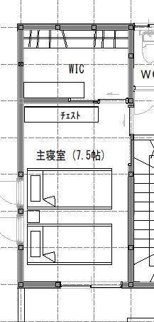 7.5畳の寝室レイアウト